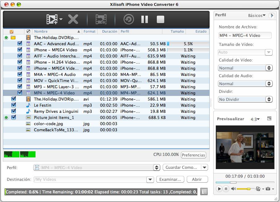 Xilisoft iPhone Vídeo Convertidor Mac